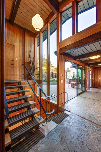 welcoming mid century modern entrance designs   invite