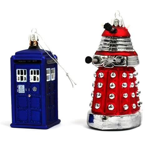 doctor who christmas ornaments neatorama