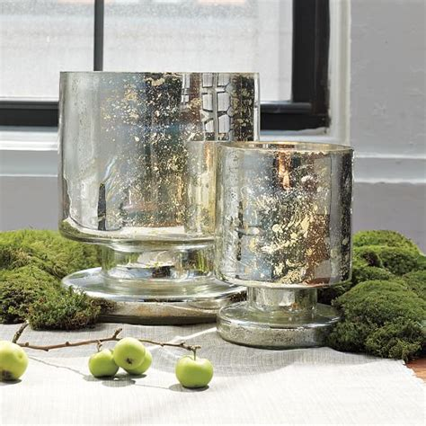 mercury glass hurricane vase footed mercury hurricanes vases west elm
