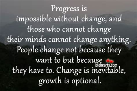 Progress Is Impossible without Change Quote
