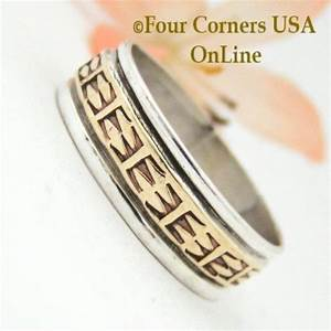 size 12 1 2 ring 12kgf and sterling wedding band style by With native american style wedding rings