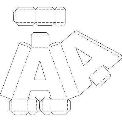 resultado de imagen para moldes de la s letras 3d grandes especiales formato png