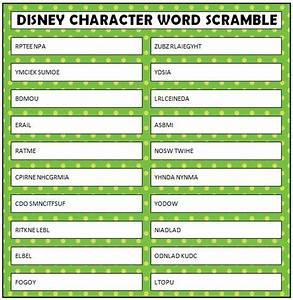 Disney Word Scramble Free Printable - Moms & Munchkins