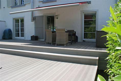 Terrassen Farbe terrassen farbe berdachung terrasse holz buche mit dacheindeckung