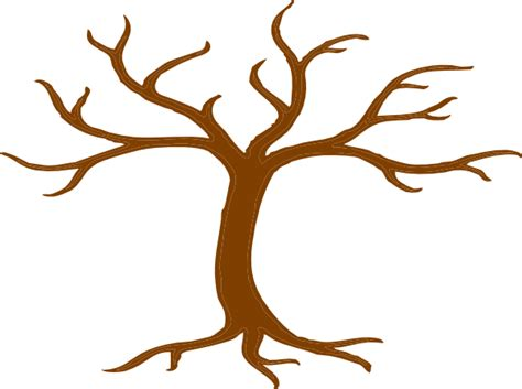 Tree Trunk And Roots Template by Brown Tree Bare Clip Art At Clker Vector Clip Art
