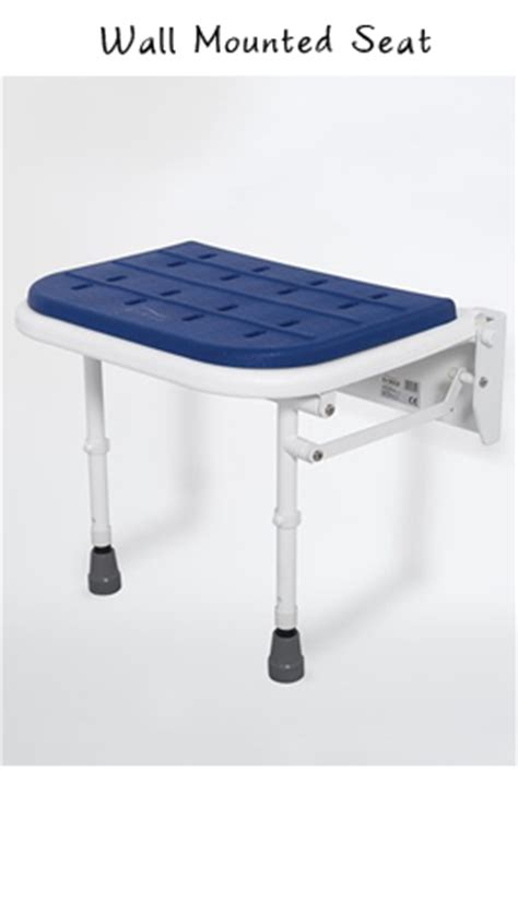 Wall Mounted Folding Shower Seat With Legs - padded wall mounted folding shower seat with legs