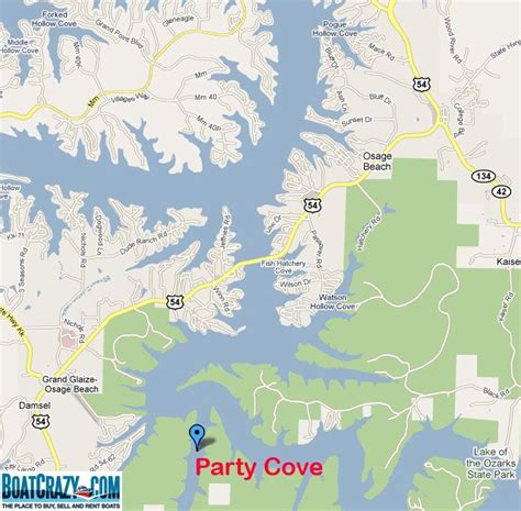 Lake Of The Ozarks Boating Map by Map Of Cove Lake Of The Ozarks Mo Lake Of The