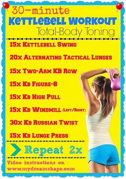 Kettlebell Workout Workouts Minute Total Routines Toning