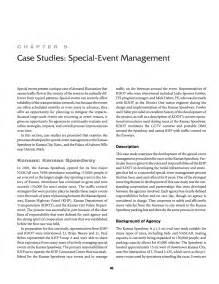 chapter  case studies special event management