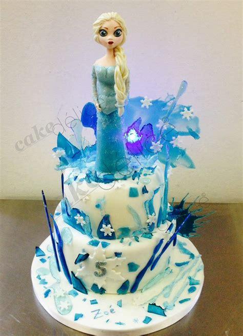 frozen cake g 226 teau reine des neiges en isomalt et p 226 te 224