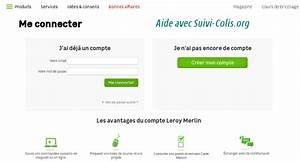 Leroy Merlin Commande En Ligne : suivi colis leroy merlin suivre une commande en ligne ~ Dailycaller-alerts.com Idées de Décoration