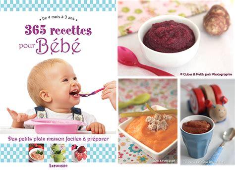 un livre 365 recettes pour bébé à gagner cuisine de