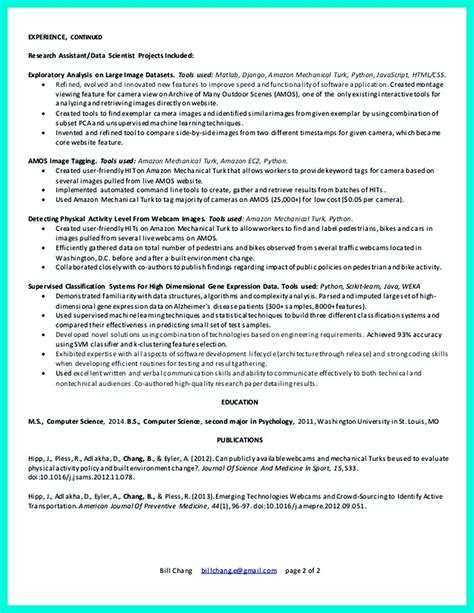 Data Scientist Resume Include Everything About Your
