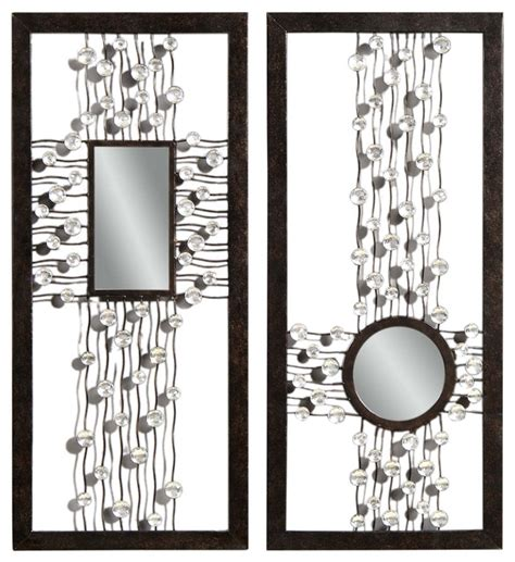 rectangular wall mirrors decorative bronze decorative rectangle wall mirrors pair modern