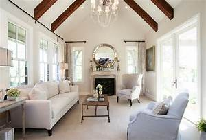 Traditional Living Room Painted In Elmira White By