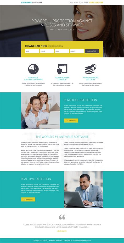 modern and effective software landing page designs