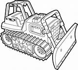 Coloring Pages Bulldozer Dozer Printable Simple Template Working Sun Getcolorings Construction Truck Col Sheets sketch template