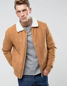 Veste Homme Col Mouton : chaquetas de cuero para hombre chaquetas de ante para hombre asos ~ Dallasstarsshop.com Idées de Décoration