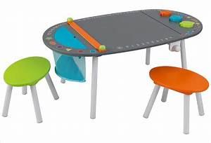 Table En Bois Enfant : petite table ronde en bois pour enfant et ses deux chaises kidkraft ~ Teatrodelosmanantiales.com Idées de Décoration
