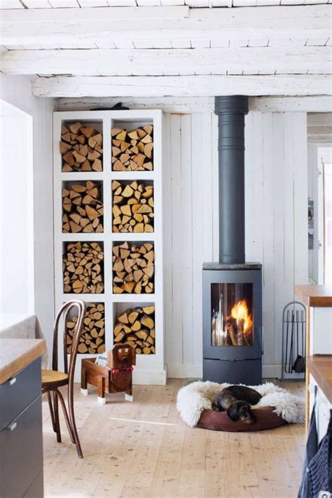 It is made from solid cherry; 25 Home Wood Burning Stove Ideas - DigsDigs