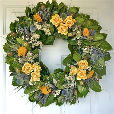 yellow rose wreath frontgate