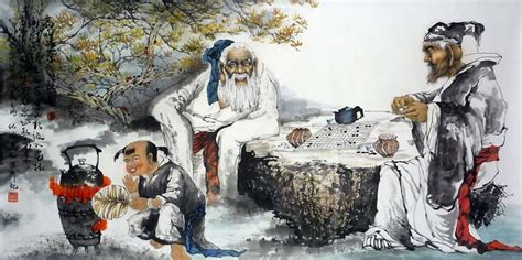 chinese gao shi play chess tea song painting 3803015 66cm