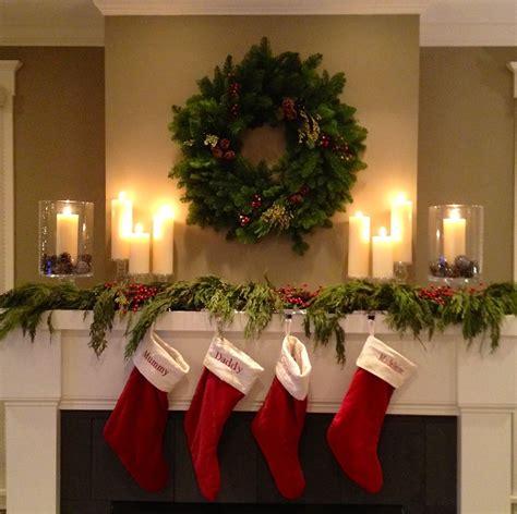 christmas mantel  stockings twoinspiredesign