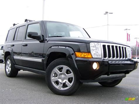 2007 black clearcoat jeep commander overland 4x4 25537635 gtcarlot car color galleries