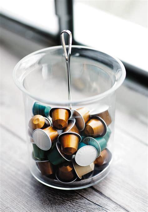 distributeur capsules nespresso mural ritual swirl capsule dispenser reminiscent of a classic glass this glass and