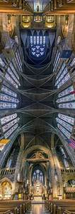 Vertical Panoramic Photographs Of New York Churches By