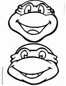 Ninja Turtle Head Coloring Page 02 01 | Elias | Pinterest ...