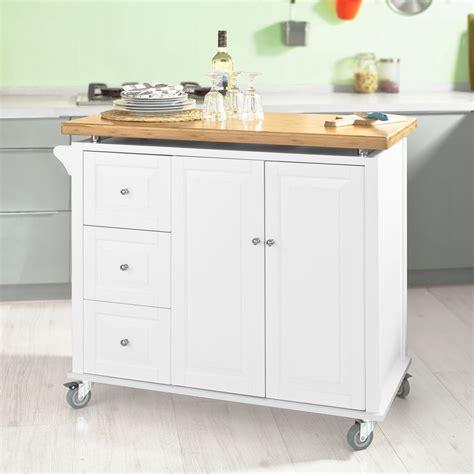 kitchen island on wheels ikea sobuy desserte roulante meuble chariot de cuisine 3 tiroir
