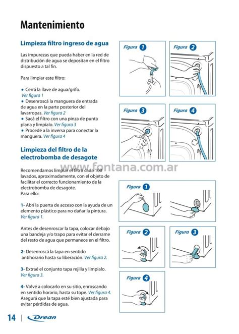 manual de uso lavarropas drean next wifi fontana ar