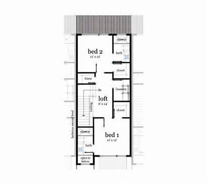 Floor Plans Rowhouse Row Second Modern 2nd