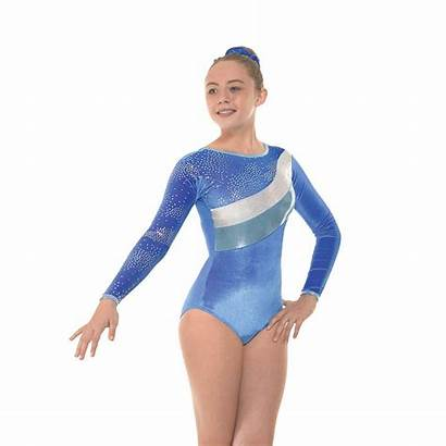 Leotard Gymnastic Sleeve Foil Velvet Gym Gymnastics