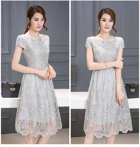 dress pesta brokat cantik elegant murah myrosefashioncom