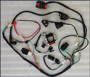 Full Electrics Wiring Harness Cdi Coil Kill Switch 50cc