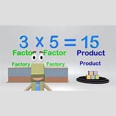 Multiplication Vocabulary  Math Video Elementary Kids Youtube