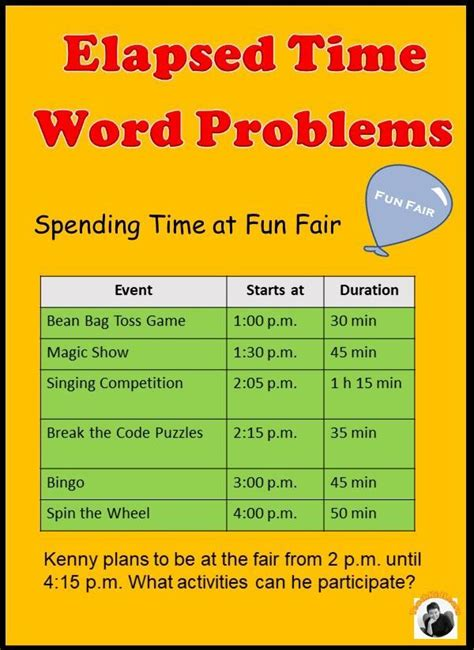 elapsed time word problems  addition subtraction