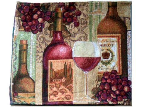 merlot wine grapes tapestry table runner