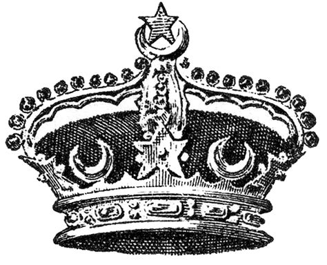 free royalty free clipart vintage crown image moons and the graphics