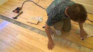 How to install a bamboo floor part 2 youtube for How to install nail down bamboo flooring