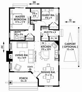 2 BEDROOM COTTAGE HOUSE PLAN – Jeremy Newell Design