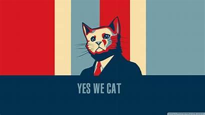 Yes Cat Obama Hope Humor Wallpapers Barack