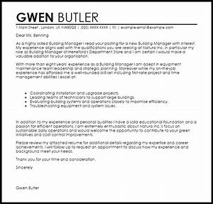 building manager cover letter sample cover letter With build a cover letter