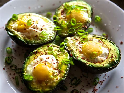 cooked avocado baked avocado with egg kaleandchocolate com