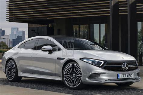 realistic render previews electric sedan mercedes benz eqs