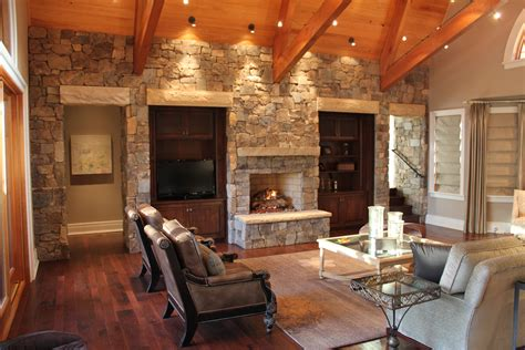 Elegant Bricks Wall Interior Design Ideas With Red Color Witching Brown Also Combine White Black