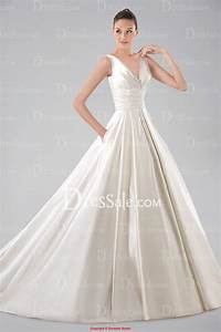 hand beaded mikado ball gown with pockets wedding dress With ball gown wedding dress with pockets