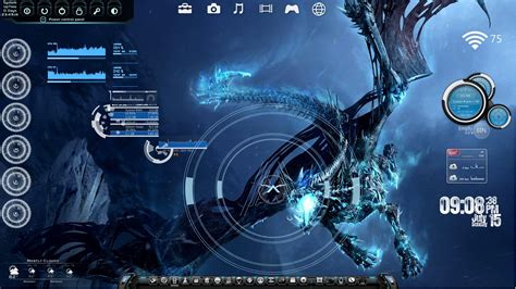 Animated Wallpaper Rainmeter - targeting the bone rainmeter desktop by ionstorm01